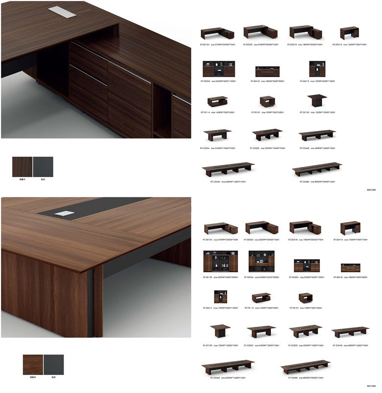 गर्म बेच निदेशक कार्यकारी कार्यालय अनुबंध के लिए Melamine के कार्यालय डेस्क कार्यालय फर्नीचर (KT-D0318)