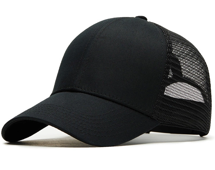 Accept Custom Logo Fast Delivery Plain Black Trucker <strong>Caps</strong>