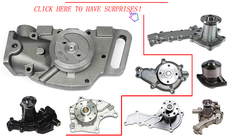 Hot sell track loader parts D31 6D105 Water pump
