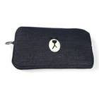 Promotions cheap fashion large big custom black cotton canvas ladies women clutch bag