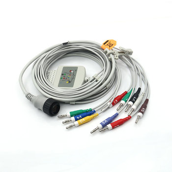 Delta 1/3/30/60 plus Cardioline ekg cable, 10 lead ECG cable with banana, 16pin