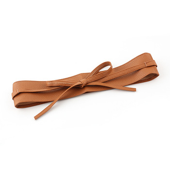Wholesale Sash Fashion Women's Long Soft Leather Belt PU Ladies Belt For Dress