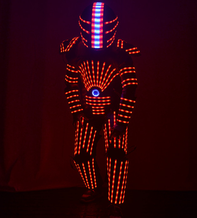Color switching LED LIghting Dance Dobot Costume For Event Party / Birthday/ Christmas Party/ Business Promotion