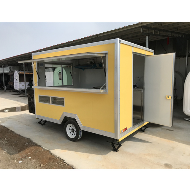 Made In China Food Catering Anhänger Fast Food Truck Mobile Food Carts / Mobiler Food Truck mit zwei Rädern / Kaufen Sie mobile Food Carts