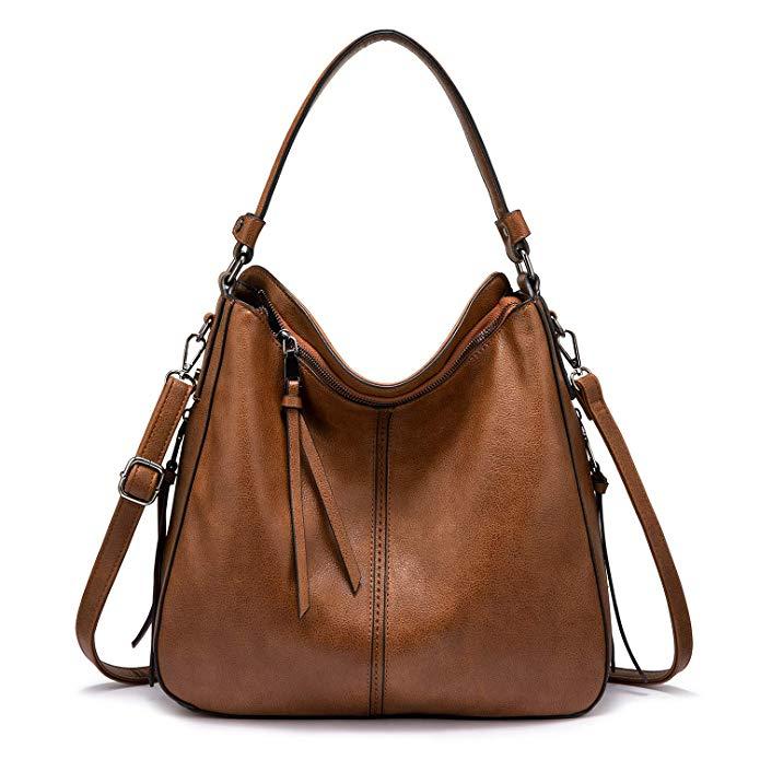 REALER Brand Vintage Leather Crossbody Hobo Ladies Hands Bags Shoulder Women Handbags