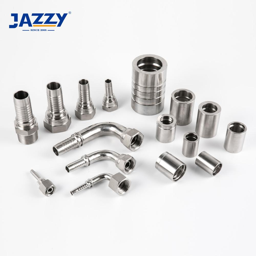 JAZZY factory manuli standard 3000/6000/9000 PSI stainless steel hydraulic hose <strong>fitting</strong>