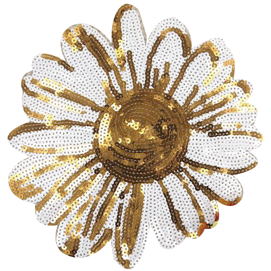 Applique Large Patch Embroidery Flower wholesale Custom Sequin Patch for t-shirt