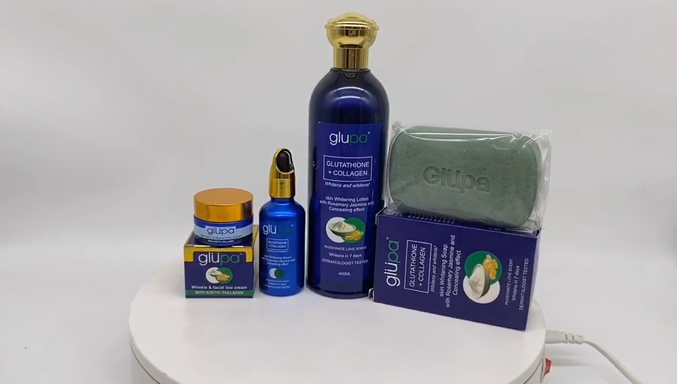 The Most Effective Bleaching SkinCare Set with Glutathione and Collagen Concentre Ingredient OEM Accept