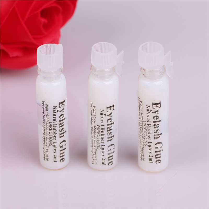 2ml False Eyelash Glue Transparent Glass Travel Size Eyelid Glue Stick Super Glue Makeup Tool