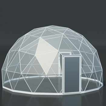 Customized outdoor large house transparent clear glamping geodesic dome tent and dome for sale