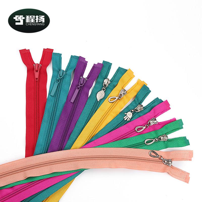 Hot selling fashion open end zipperlong chain smooth teeth mini 5# nylon zipper