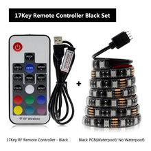 USB Светодиодные ленты 5050 RGB 60leds/M с 17Key rf контроллера 50 см/1 м/2 м комплект.(Китай)