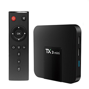 Promotion TX3 mini amlogic s905w smart tv set top box 2gb ram 16gb rom quad core android tv box 8.1 with LED display