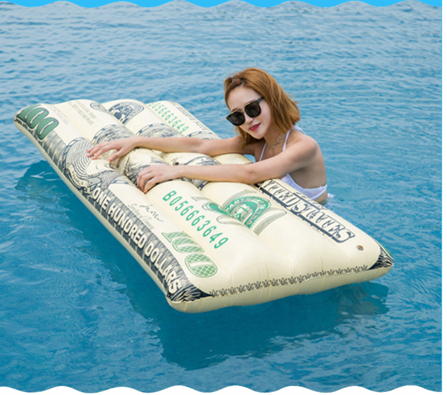 Instock Inflatable USD Floating Row Amazon Hot Sale Water Inflatable Bed Swimming Cushion Outdoor USD mattress Chair