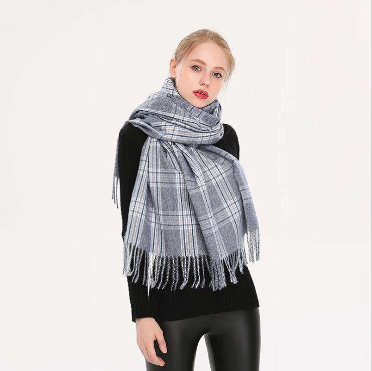 Winter Cashmere Wool like Scarf Pashmina Shawl Wrap for Women Long Large Warm Thick Reversible Scarves