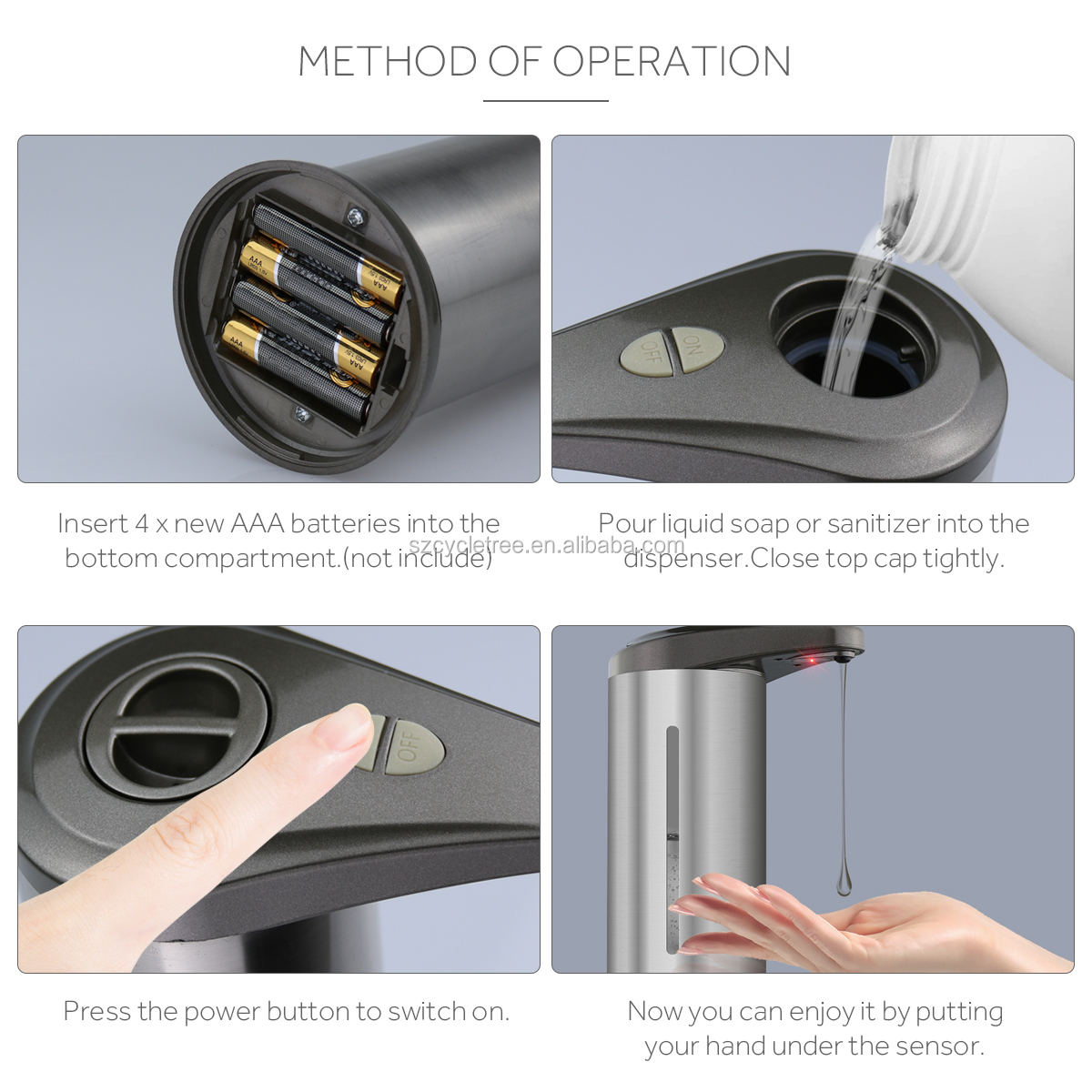 Amazon Hot Bán Điện Xà Phòng Tự Động Dispenser Tay Miễn Phí Hồng Ngoại Touchless Xà Phòng Cảm Biến Dispenser Nhà Máy Bán Buôn