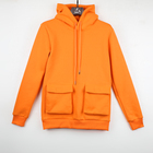 Hoodies Custom Street Style Orange Multi-Pocket Hoodies Cotton Men'S Hoodies