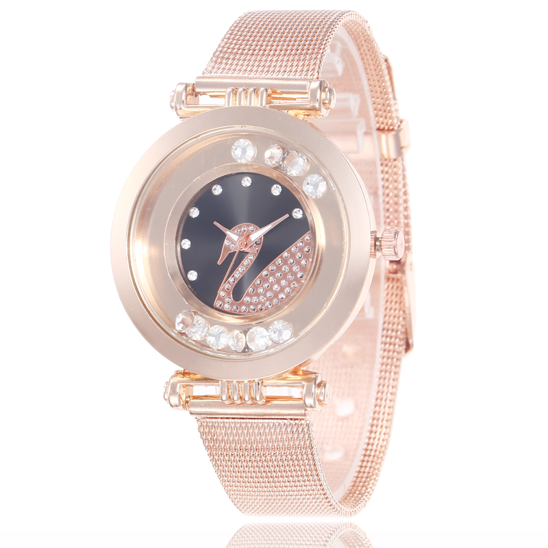 Luxury Rose Gold Goose <strong>Women</strong> <strong>Watches</strong> Minimalism Buckle Fashion Casual <strong>Wrist</strong> <strong>Watches</strong> <strong>For</strong> <strong>Women</strong> S9705