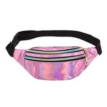 Женская поясная сумка TTOU, модная спортивная мини-сумка из искусственной кожи, с геометрическим узором, для отдыха, 2019(Китай)