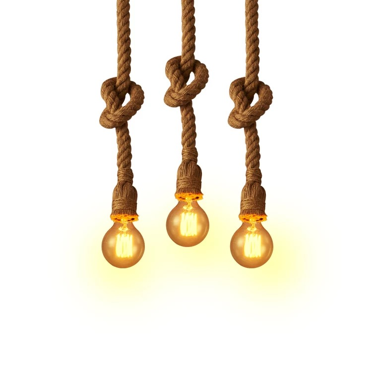 New Design Led Bulb Vintage Hemp Rope
