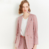 Zdorzi Retro Plaid Blazer Lady 2019 Autumn Fashion Casual Slim Professional Suit Long Sleeve Women Suits Coat Label&Tag Custom