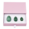 High quality aventurine Drilled Vaginal Exercise jade eggs for Women, 3Size Per Set, Passed Rohs Tests