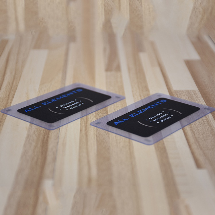 Blue Foil Stamped Print Cards, Custom Printing Matte Business Card Plastic