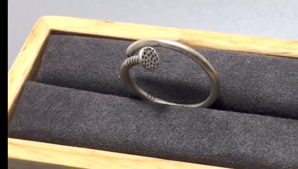Prata esterlina anel de unha do punk S925 anel do vintage jóias para o homem e as mulheres por atacado