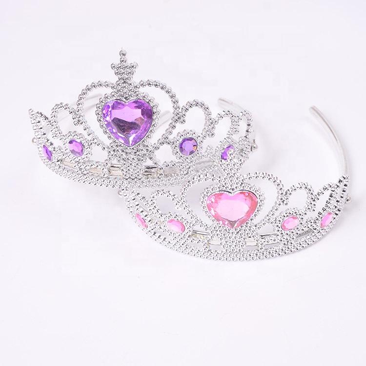 Congelati Corona di Capelli Accessori Di Compleanno Bambina Testa Corona di Gioielli Per La Festa di Halloween principessa corona per bambini