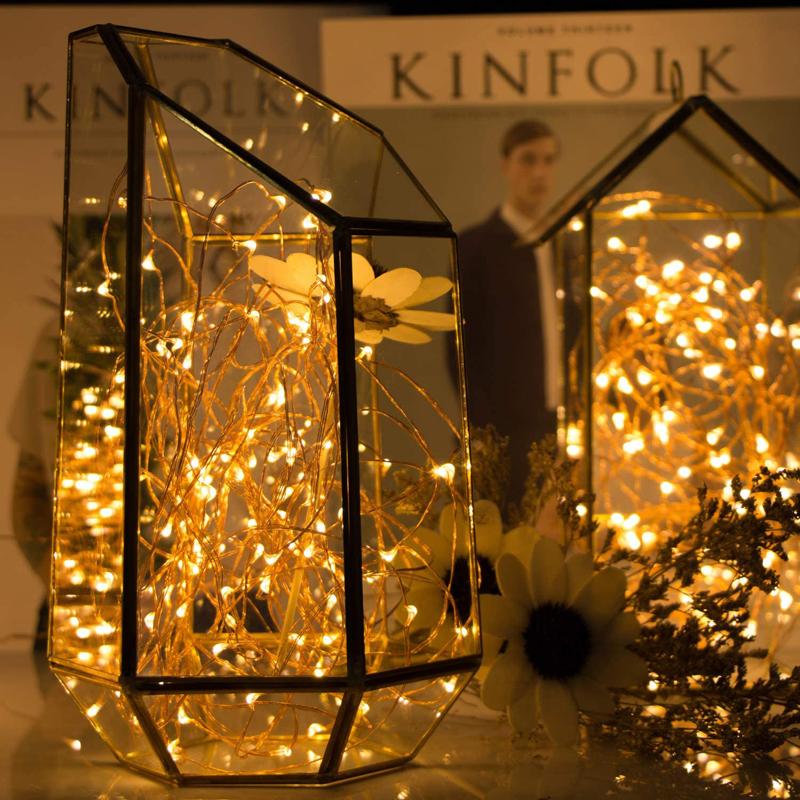 Warm White Christmas Window Lights Room Decorative Fairy String Led Light