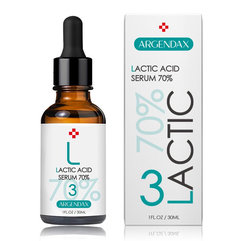 2020 Popular ácido láctico exfoliación química la renovación de la piel suero de brillo para el cuidado facial