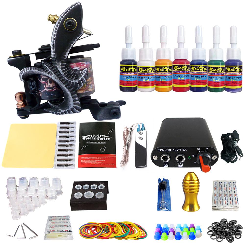 Solong Profissional Kit Máquina De Tatuagem Permanente Maquiagem Tatuagem Motor Gun