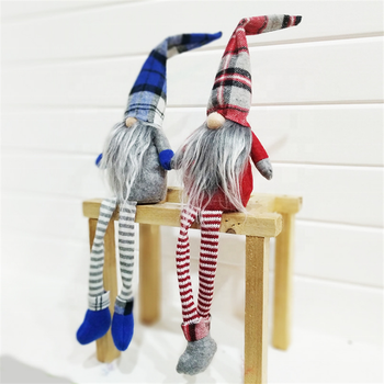 China Doll Factory New Design Soft Fabric Decoration Sitting With Long Legs Christmas Plush Elf On Shelf Xmas Ornaments Toys