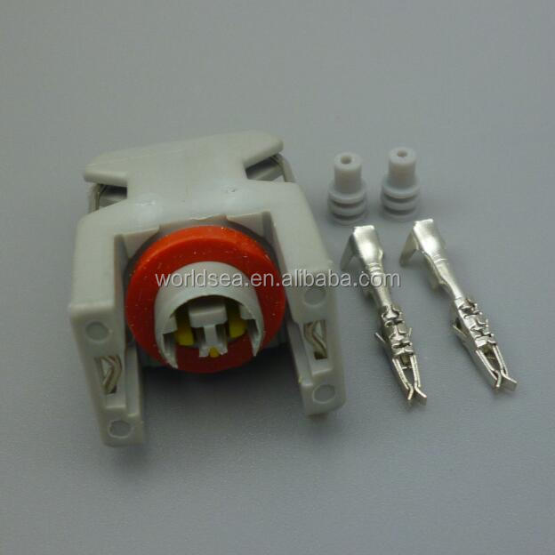 2 Pin Auto fuel injector Waterproof <strong>connector</strong> spray <strong>nozzle</strong>/oil atomizer plug 240PC024S8014 DJ7026-1.5-21