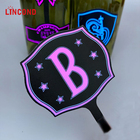 Custom Logo 3M Waterproof LED EL Wine Bottle Label Flashing Light Sticker