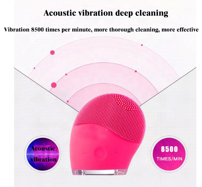 Best Sellers Ultrasonic Silicone Facial Cleanser Brush Exfoliating Brush For Face Cleansing Brush Heads