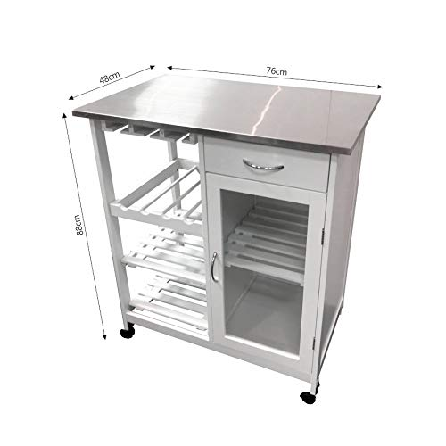 New Style Rolling Trolley Kitchen Serving Cart
