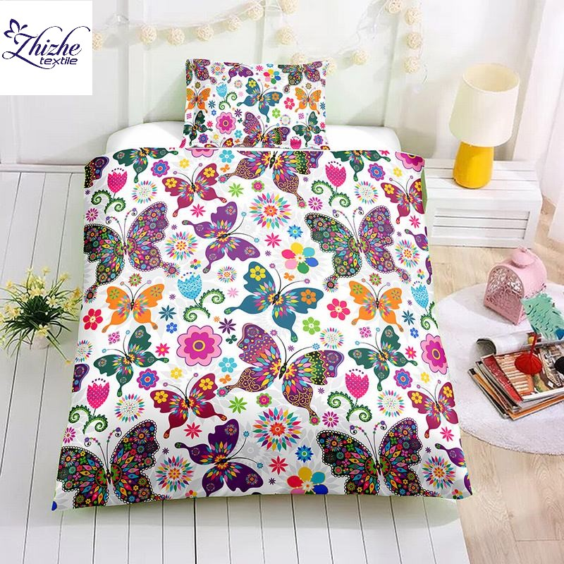 3D style butterfly printed children kids duvet cover <strong>set</strong>