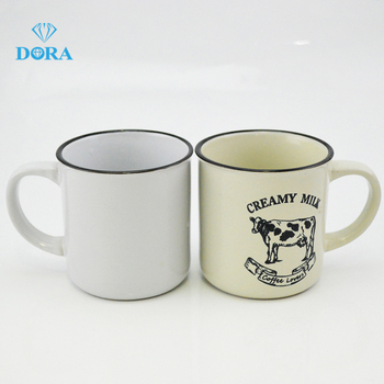 Food safety 8 oz ceramic have LFGB certificate speckled enamel mug with logo printing