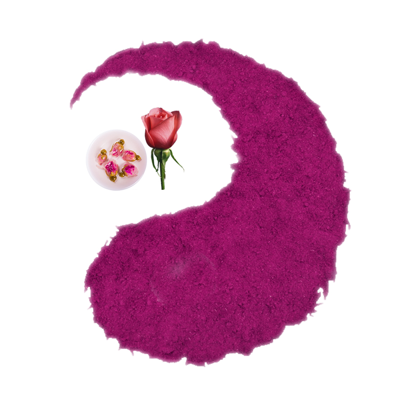 Natural organic dried red rose petal flower extract powder for face skin cosmetic facial and matcha latte food - 4uTea | 4uTea.com