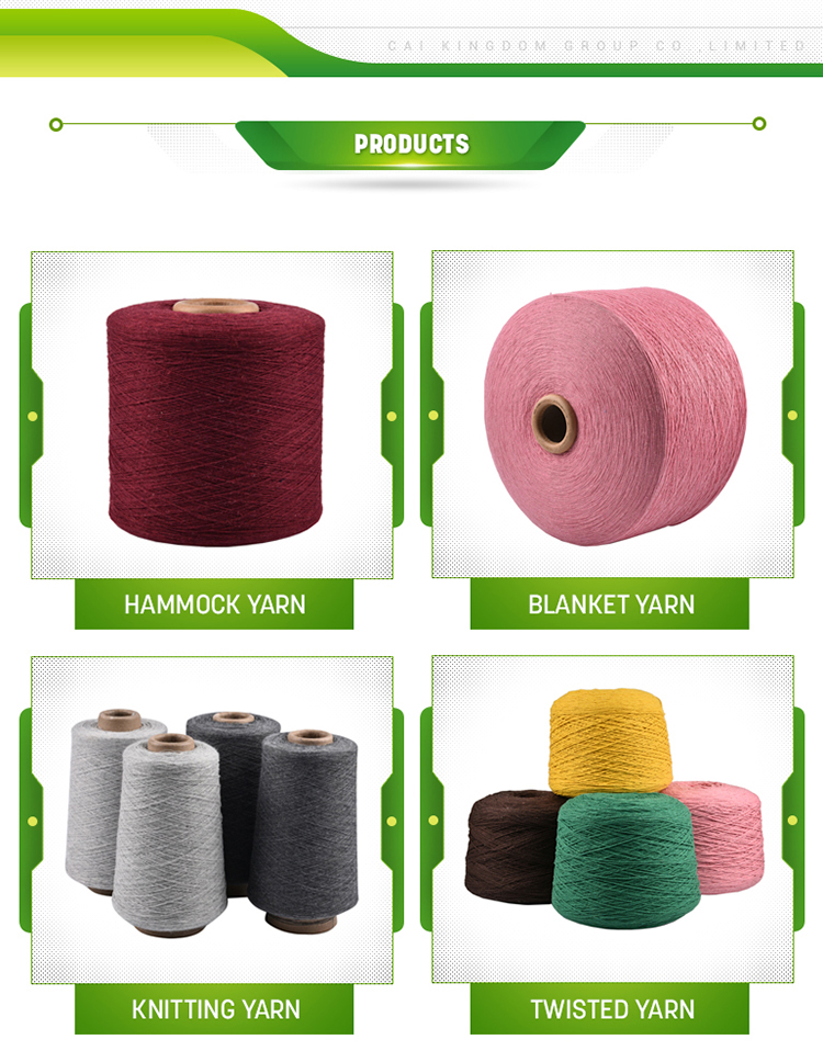 Factory directly sell regenerated cotton polyester blended  hand knitting yarn for crochet