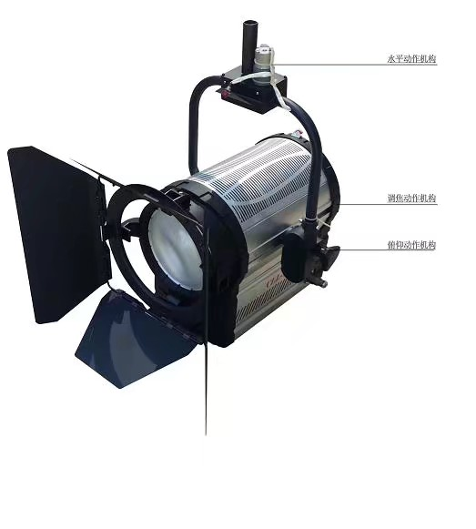 Vangaa professional lighting solution manufacturer 400W Pole Operated LED TV Studio Fresnel Continuous Daylight