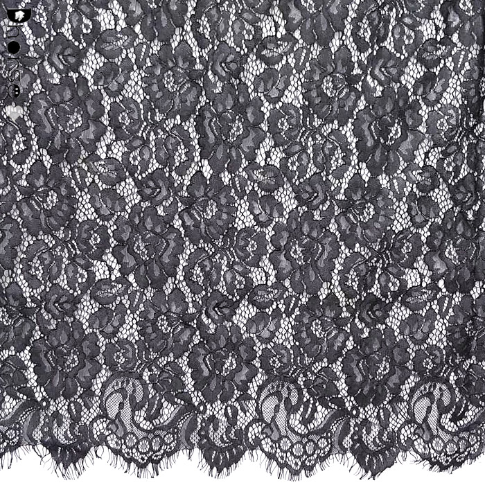 Wholesale Graceful High Quality 3 Meters Eyelash Lace Fabric For Evening Dress