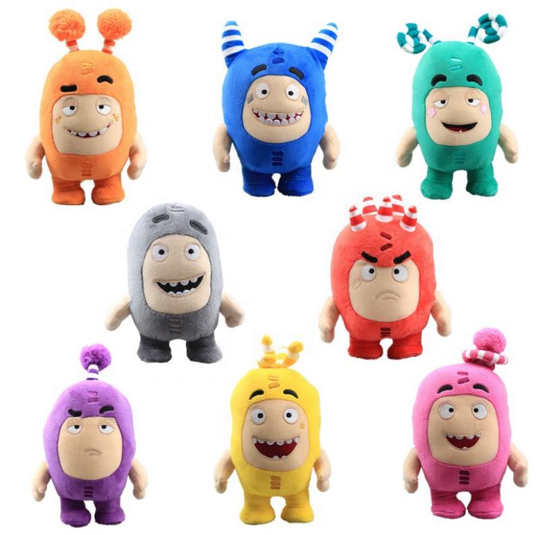 18cm dropshipping oddbods brinquedos do bebê Macia Coisas oddbods dolls Crianças Presentes brinquedos juguetes al por mayor