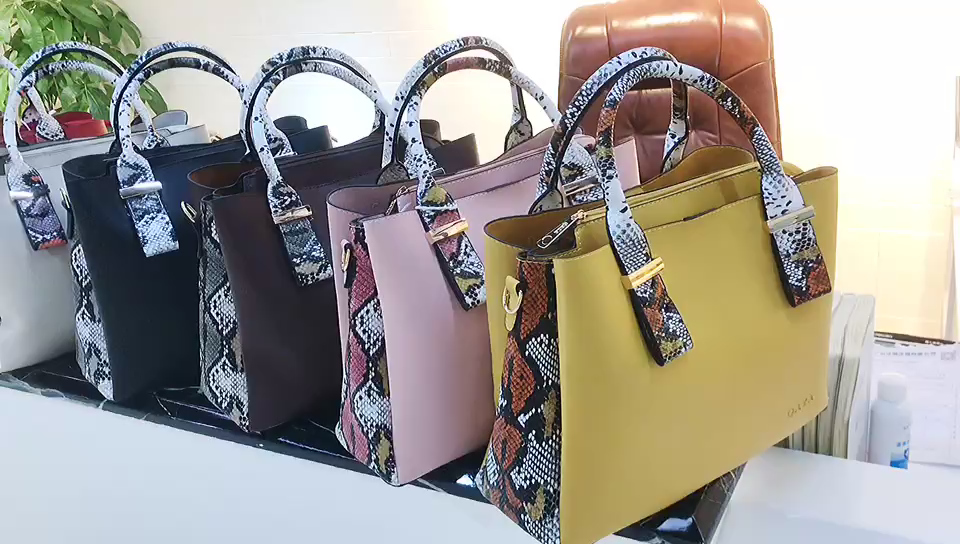 LR83 Four piece purse messenger bags colorful leather handbags for women