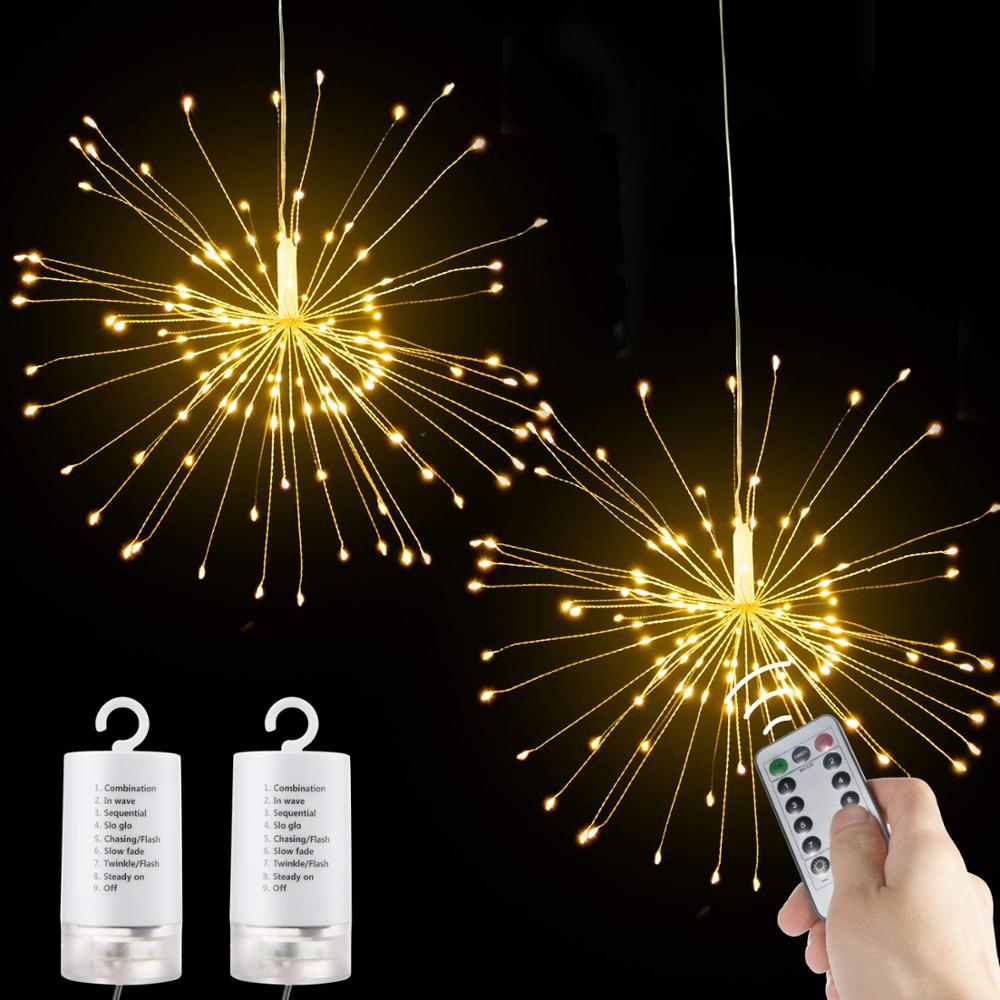 Starburst wholesale Firework led light fairy christmas star decorations falling string night light outdoor led christmas light