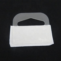 Customized Clear Plastic PVC Self Adhesive Stickers euro plastic Hang Tabs