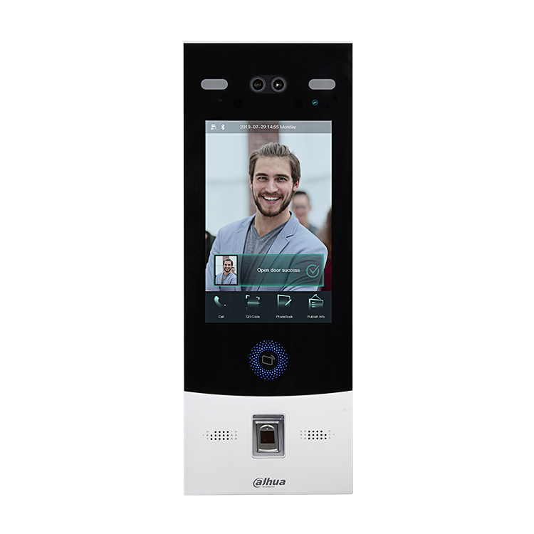 Dahua Villa Apartment Video Intercom System VTO7541G Smart Face Recognition Fingerprint IP Video Door Phone
