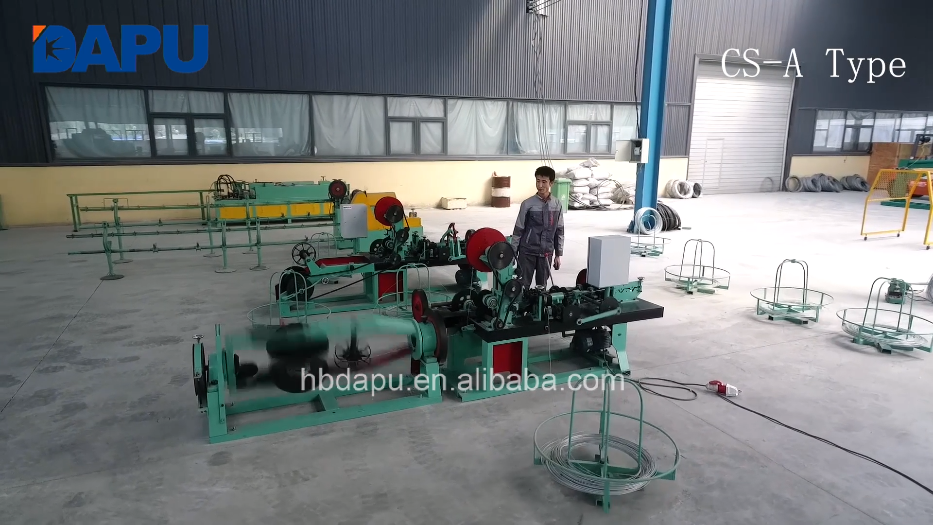 Double wire/single wire barbed wire making machine