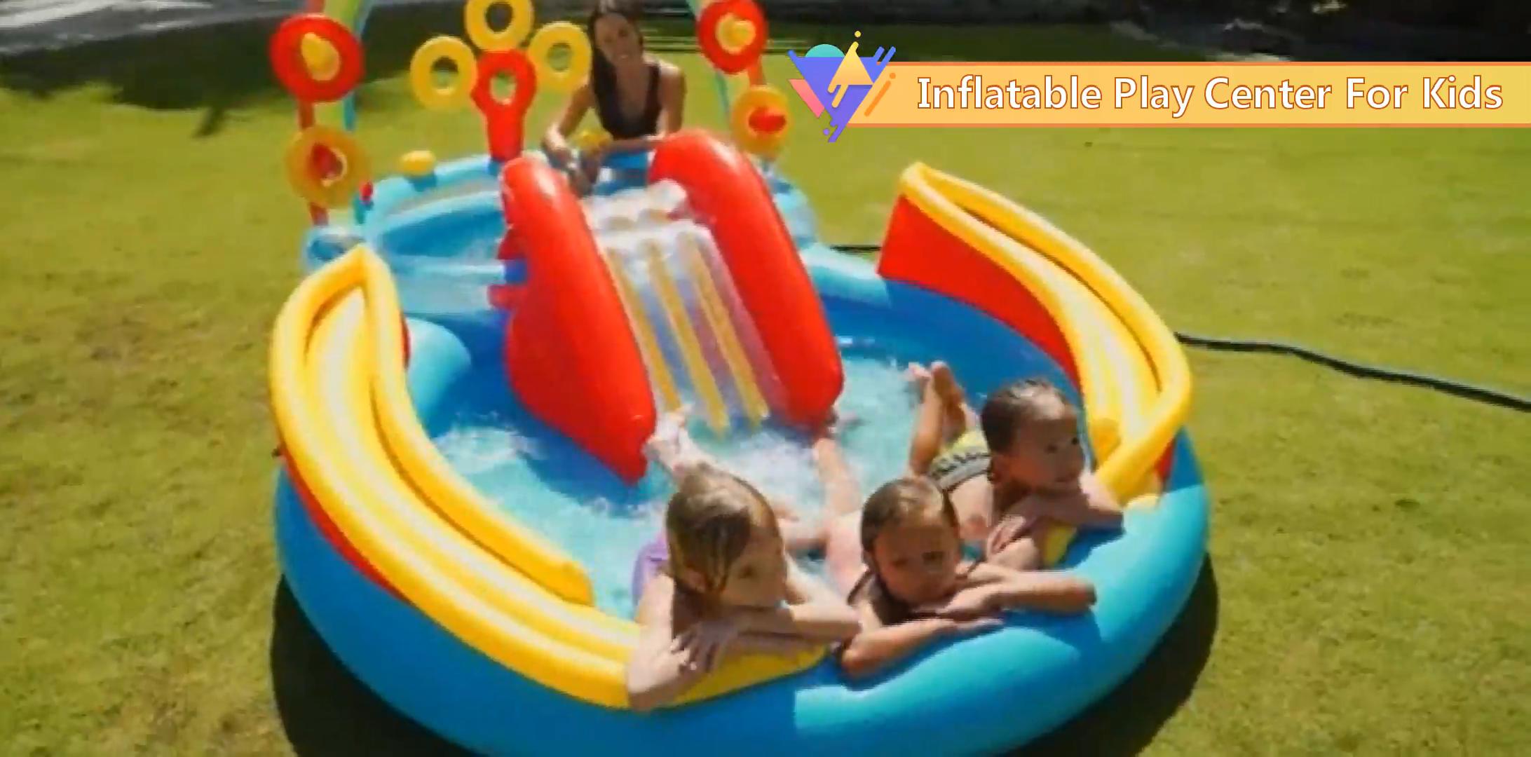 Индивидуальный размер мультяшный динозавр водный спрей арка горка и бассейн надувной детский интерактивный игровой центр с горкой